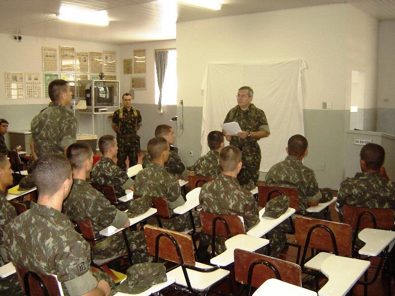 TG de Carangola recebe visita do Chefe da Seção dos Tiros de Guerra