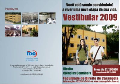 Vestibular 2009 Direito, Ciências Contábeis