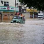 Água invade novamente o Hospital São José do Avaí, em Itaperuna.