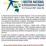 I Mostra Nacional de Desenvolvimento Regional