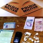 Policia Militar de Carangola prende traficantes