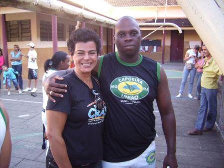 Débora Faria, Psicóloga do CRAS I e Mestre Rincon, Prof. de Capoeira