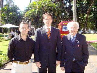 Adriano Alvim, o secretário de Estado de Esportes e Juventude, Gustavo Corrêa e  Dr. Fernando Costa