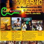 X Festival de Inverno de Manhumirim  23 a 26 de julho de 2009