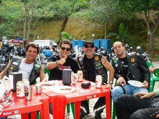 Locutor do Evento Breno Motta com o Moto Clube Pégasus de Vila Velha-ES