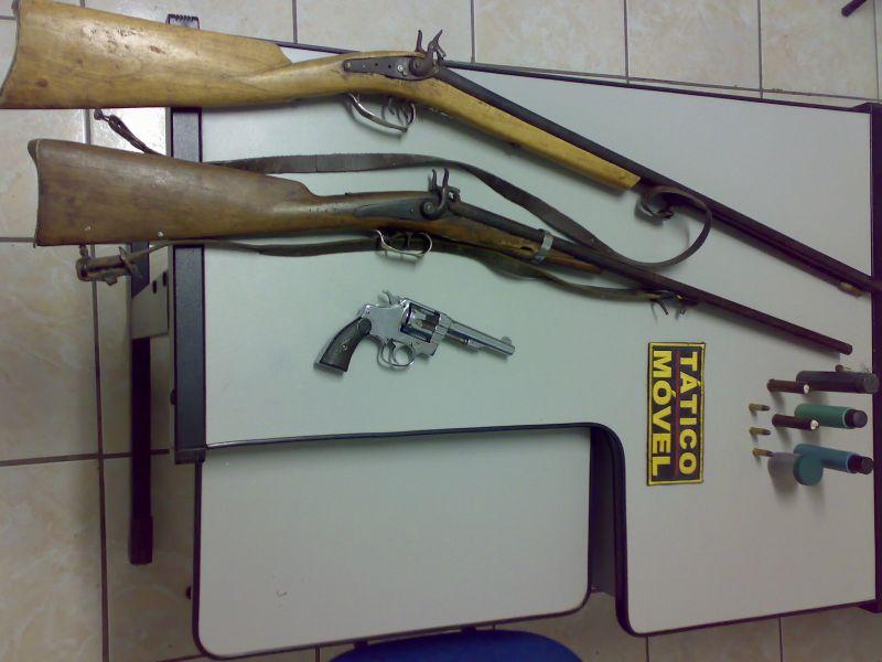 armas de fogo. armas de fogo na zona