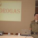 PROERD Carangola realiza palestra de prevenção as drogas para funcionários da Casa de Caridade de Carangola