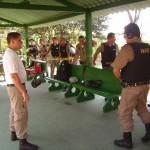 Policia Militar de Carangola realiza treinamento com arma de fogo.