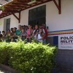 JCC da Escola Estadual João Belo  de Oliveira visita a 75ª Cia. Especial da Policia Militar em Carangola