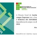 I Semana de Informática do IFF Itaperuna começa nesta quarta