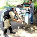 Policia Rodoviária de Carangola em prevenção com veículo de tração animal
