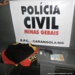 Polícia Civil de Carangola prende o autor do assalto a mão armada à loja Roupa Nova.