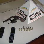 Cidadão é preso com revólver e munições dentro da casa lotérica de Divino.