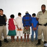 Quadrilha que praticava furtos em Fervedouro é presa pela PM.