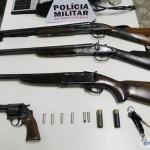 PM de Divino apreende 4 armas de fogo em Orizânia