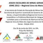 Etapa Regional Zona da Mata dos Jogos Escolares de Minas Gerais