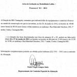 Licitação- Serviço Público do Estado de Minas Gerais.
