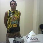 PM de Reduto prende autor e localiza objetos furtados.