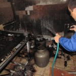 Cozinha do Lar Evangélico de Carangola destruida por incêndio em botija de gás.