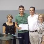 Premiação do concurso de redação em Carangola.