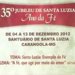 35º Jubileu de Santa Luzia - Programação.