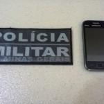 Celular recuperado pela Policia Militar de Reduto.