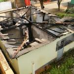 Casa é incendiada no Divino.