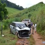 Duas pessoas ficam feridas em acidente próximo a Miradouro.