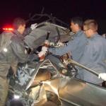 Três mortos em acidente na BR-262.