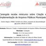 Minicurso de Criação e Implementação de Arquivos Públicos Municipais.