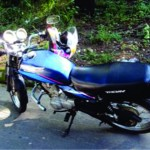 Policia Militar Rodoviária de Carangola apreende moto adulterada.