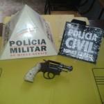 Operação conjunta Policia Militar e Policia Civil de Tombos apreendem arma de fogo.