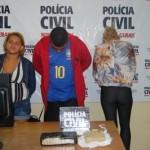 Trio é preso com 1,5 quilo de crack em Realeza.