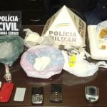 Manhuaçu-Operação conjunta: Quase um quilo de drogas apreendido na Petrina.