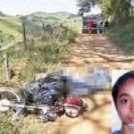 Menina de 13 anos morre em acidente entre moto e caminhão.