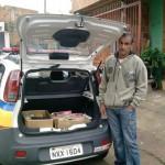 PM de Carangola realiza doação de livros para a Associação de Moradores do Bairro Novos Tempos.