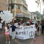 JCC de Carangola participa da Passeata pela Paz.