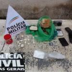 Polícia Militar e Civil apreende drogas e armas.