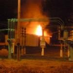 Incêndio em depósito na subestação da Energisa.