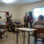 Policia Militar Rodoviária de Carangola realiza palestra de Trânsito no Município de Pedra Dourada.