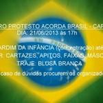 Carangola - 1º Protesto Acorda Brasil