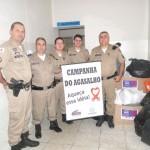 Policia Militar, CONSEP e Secretaria Municipal de Ação Social de Carangola realizaram Campanha do Agasalho 2013.