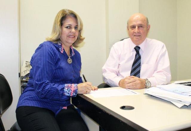 Darcí Braga com o Deputado Estadual Braulio Braz