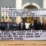 Movimento Acorda Justiça: Advogados protestam em frente ao Fórum.