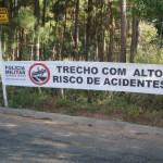 Policia Rodoviária de Carangola e D.E.R.-MG Unidos na prevenção de acidentes.
