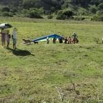 Piloto de asa delta fica ferido após pouso forçado em Eugenópolis.