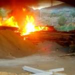 Incêndio atinge galpão em Realeza.