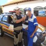 Policia Rodoviária de Carangola realiza palestra de trânsito itinerante.