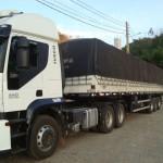 Policia Militar Rodoviária de Carangola localiza e recupera caminhão com carregameno de café.