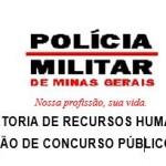Diretoria de Recusos Humanos divulga  Concurso Público na PMMG.